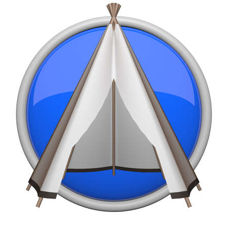 teepee: Teepee icon, blue for things such as camping and outdoors.