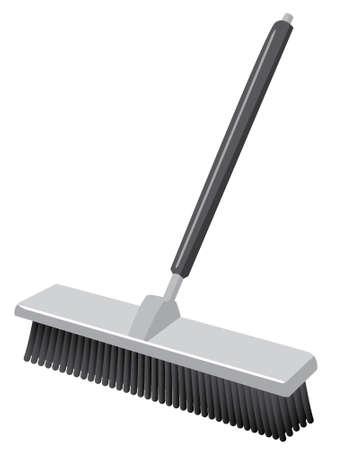 A push broom  Such as you would see in a warehouse  Icon style  Stock Vector - 12803688