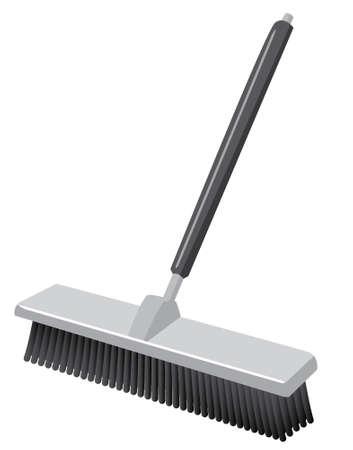 sanificazione: Una spinta scopa Come si vedrebbe in uno stile Icon magazzino Vettoriali