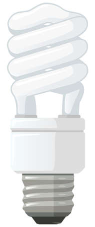 an energy saver bulb, orthographic view. Vector