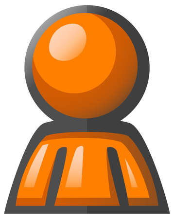 lustrous: Orange Man simplistic forum avatar, professional, bright, orange.