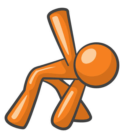 Orange Man Esercizio fisico Archivio Fotografico - 12812147