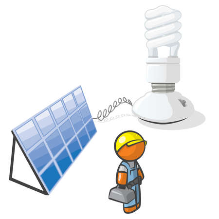 energy work: Saving the earth through strategic use of silicon and halogen bulbs. We should all do our part.