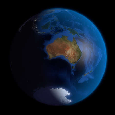 earth from space: Earth Globe Australia. 3d Render using NASA texture maps.
