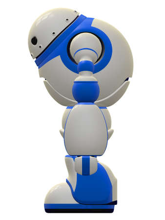 vigilant: Side view of the software security robot concept.