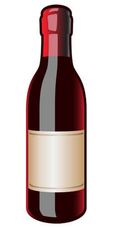 chianti: Iconic vintage wine bottle with a blank label for your design or copy text. Stock Photo