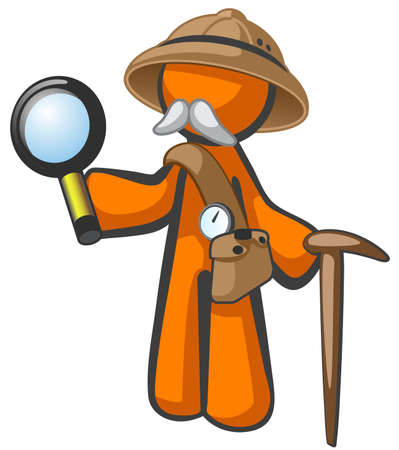 walking stick: a wise old explorer or adventurer, out on an expedition to discover or cure.