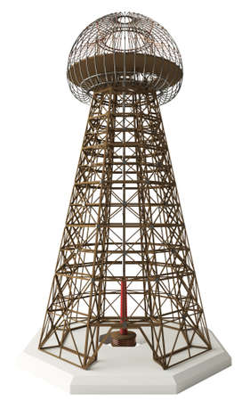 meant: Nikola Tesla invention  Magnifying Transmitter  Also known as the Wardenclyffe Tower  Meant to produce wireless energy