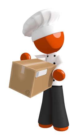 receiving: Orange Man Chef Receiving Box