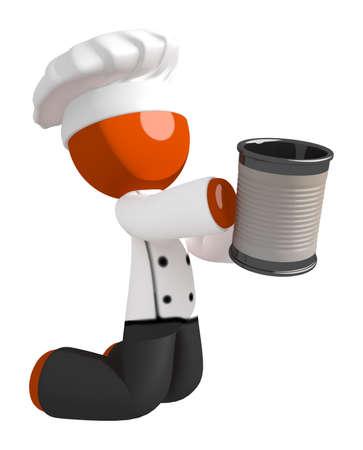 pitiful: Orange Man Chef Begging for Money While Kneeling