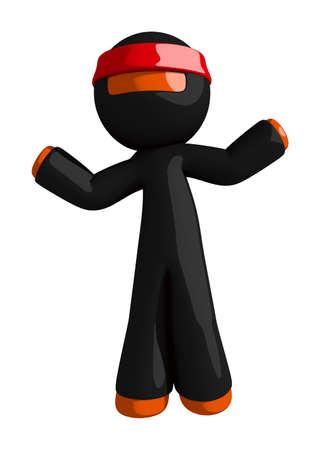 indecisive: Orange Man Ninja Warrior Confused