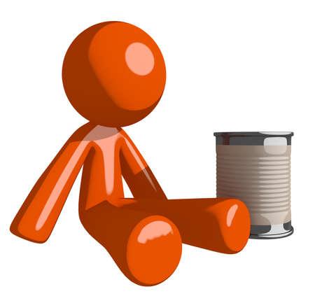 pitiful: Orange Man Beggar