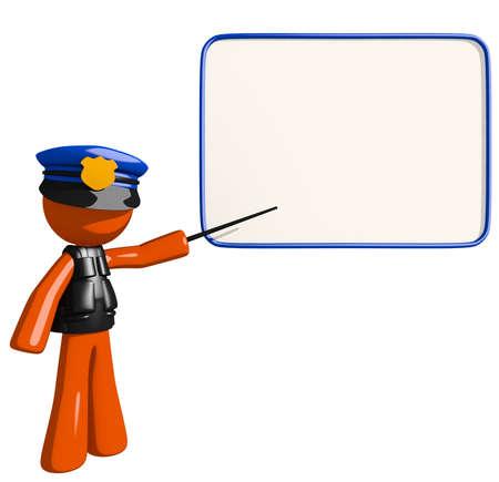 multilevel: Orange Man police officer in Seminar