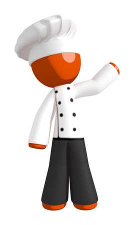 jobs people: Orange Man  Chef Waving