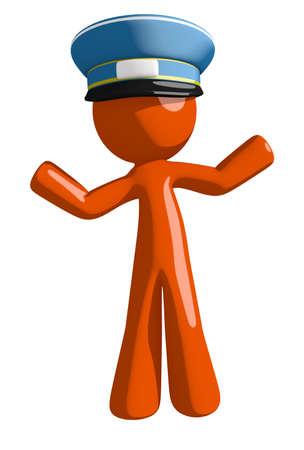 indecisive: Orange Man postal mail worker  Apathetic or Confused
