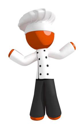 indecisive: Orange Man Chef Confused