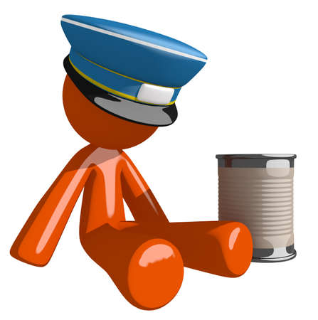pitiful: Orange Man postal mail worker  Beggar
