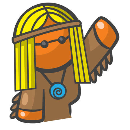 cintillos: hippy persona o niño de flor de naranja