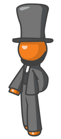 abraham: Orange person abraham lincoln