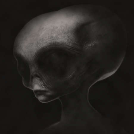 roswell: Grey alien old photo
