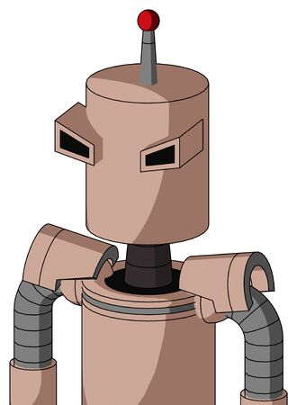 Portrait style Light-Peach Mech With Cylinder Head And Angry Eyes And Single Led Antenna .