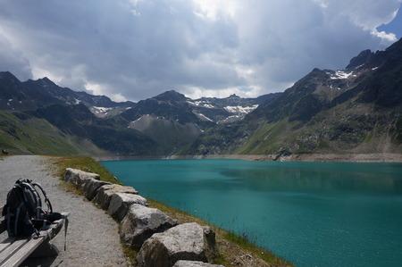 Finstertal dam near Kuehtai. Austrian Alps.