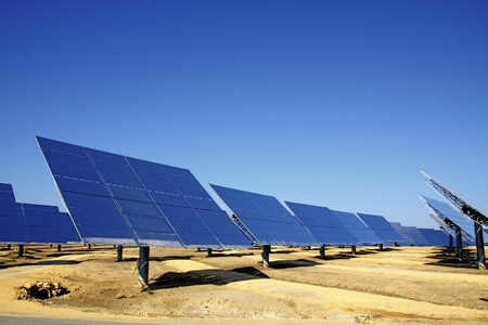 solar plant taking advantage of our most valued resource Stock Photo - 13003865