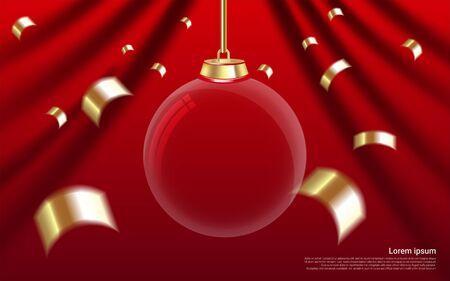 christmas ball christmas fabric background