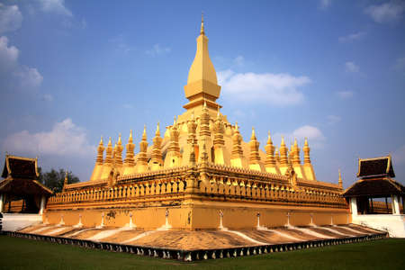 vientiane: Pha That Luang   Great Stupa   is a gold-covered large Buddhist stupa in the centre of Vientiane, Laos  Stock Photo