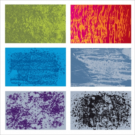 Set of background grunge textures Stock Vector - 16137264