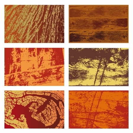 Set of background textures of different types of wood Illustration