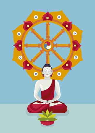 Dharma wheel concept design.