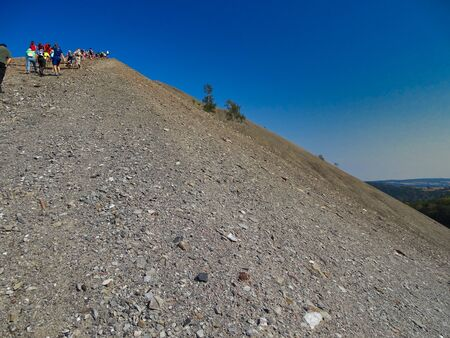 Once a year you can climb to this mining dump close to Sangerhausen / German.