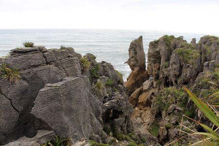 Pancake Rocks a rock formation in Paparoa National Park, South Island, New Zealand