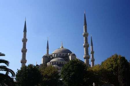 The Sultan Ahmed Mosque, Istanbul, Turkey Archivio Fotografico