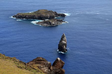 Rock island Motu Nui Easter Island, Rapa Nui, Chile, South America