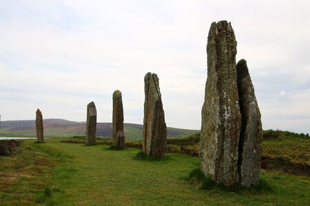 Ring of Brodgar Mainland, Orkney, Scotland 版權商用圖片