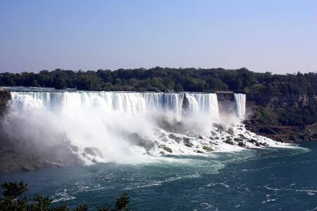 Niagara falls, the American and Bridal Veil Falls in the state of New York