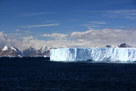 Tabular iceberg in Antarctica, Antarctic Peninsula