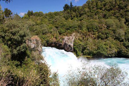 The Huka Falls, New Zealand Stockfoto - 150296161