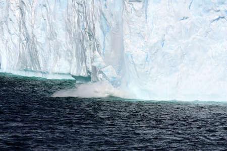 Calving tabular iceberg in Antarctica, Antarctic Peninsula