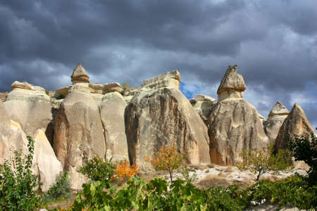 Red valley, tuff landscape, Turkey, Anatolia, Cappadocia