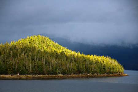 Coastal landscape at Sitka, Alaska Stock fotó