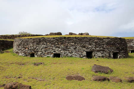 Orongo, one of the most important places of worship on Easter Island, Rapa Nui