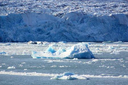 Monacobreen glacier on the island of Spitsbergen, Svalbard