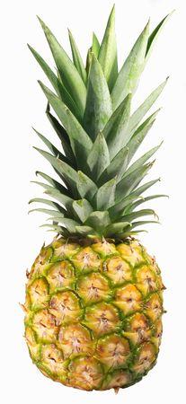 exotics: pineapple on white background