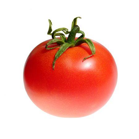 tomato isolated on white photo