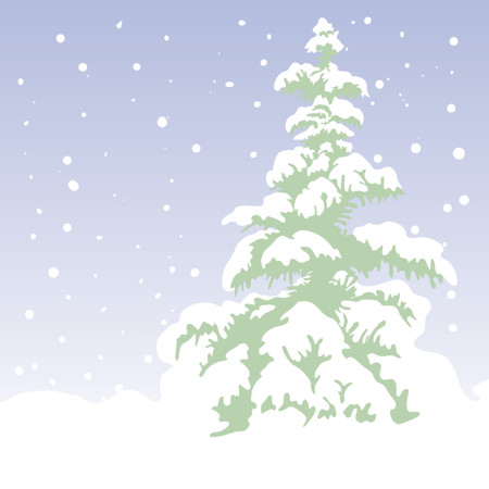 fir-tree, xmas vector background Vector