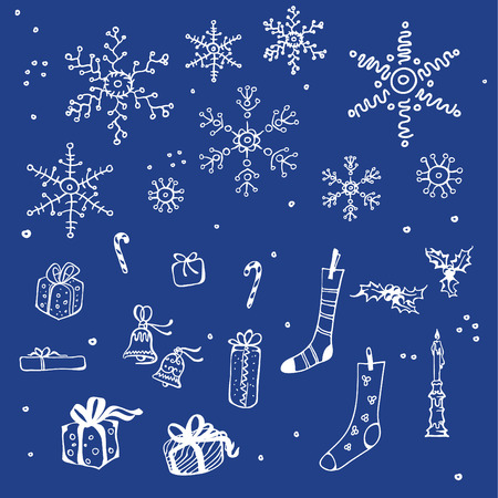 New Year and Christmas Design Elements Stock Vector - 2414518