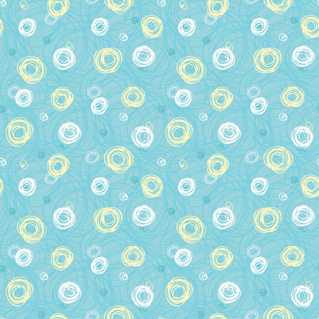 Green seamless pattern with spirals  Illustration
